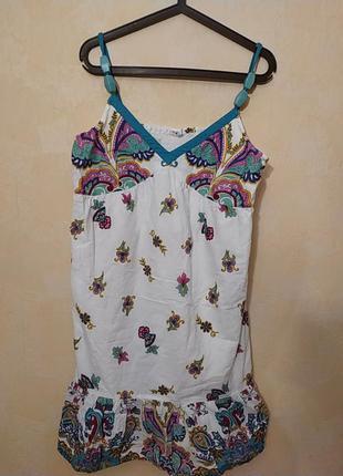 48-50!шикарный лёгкий натуральный сарафан платье