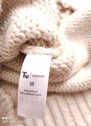 Бежевый свитер с кружевом7 фото