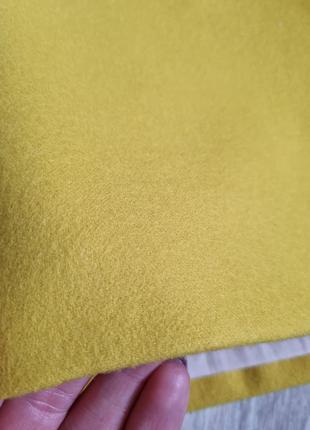 Шерстяні шортики від chloe на котонові підкладці в яскравому відтінку💛3 фото