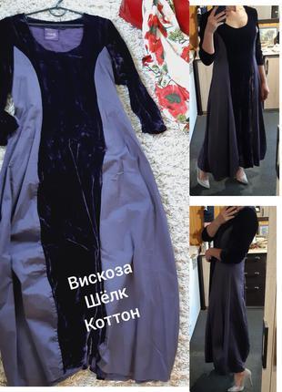 Шикарное платье в стиле бохо, бархат/шёлк/вискоза, out of xile/англия,  р  38-40