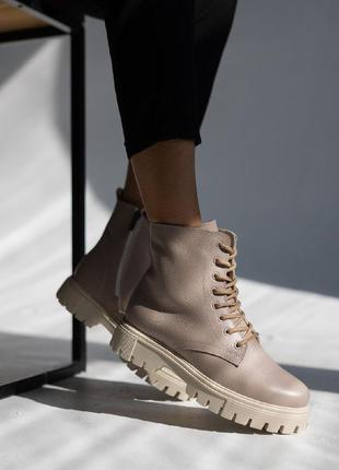 Женские ботинки кожаные4 фото