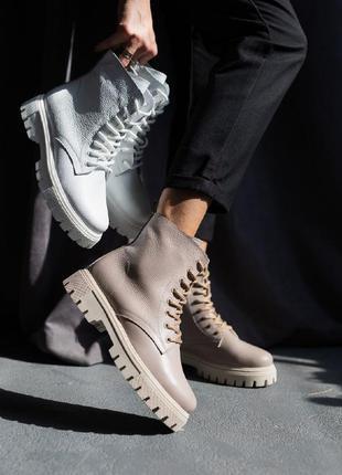 Женские ботинки кожаные5 фото