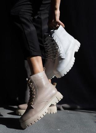 Женские ботинки кожаные3 фото