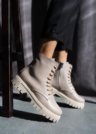 Женские ботинки кожаные6 фото