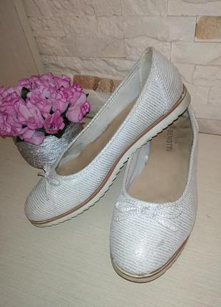 Туфли лодочки балетки блестящие мокасины