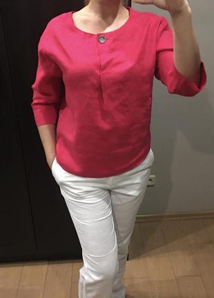 Блуза из льна цвет фуксии