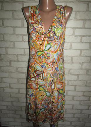 Летнее платье сарафан р-р 38-12 стрейч