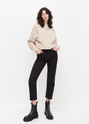 Прямі джинси reserved чорні джинси штани базові, стильные женские джинсы.