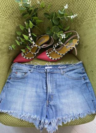 Джинсовые короткие шорты/оригинал /27 размер