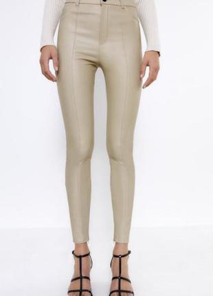 Леггинсы эко кожа кожаные штаны