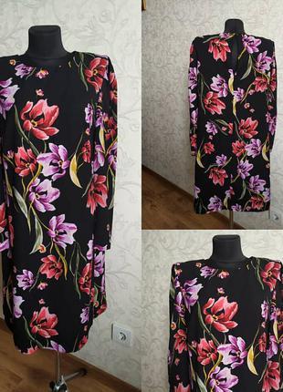Платье в цветочный принт marks & spencer2 фото