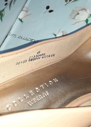 🎁1+1=3 шикарные фирменные нюдовые лаковые туфли лодочки marks&spencer, размер 398 фото