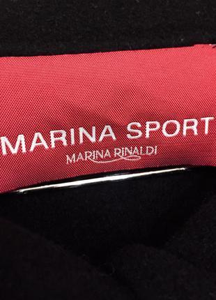 Пальто преміум брендове marina rinaldi marina sport wool coat oригінал.10 фото