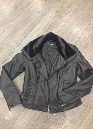 Курточка из кожзама с утеплением oodji