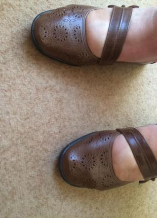Туфли коричневые   caravelle  на широку ногу2 фото