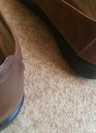 Туфли коричневые   caravelle  на широку ногу3 фото