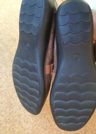 Туфли коричневые   caravelle  на широку ногу5 фото