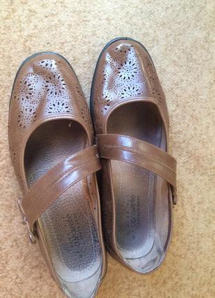 Туфли коричневые   caravelle  на широку ногу4 фото