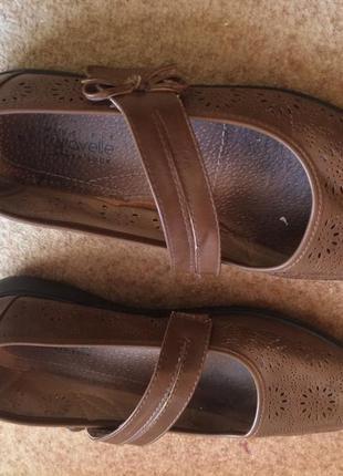 Туфли коричневые   caravelle  на широку ногу1 фото