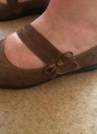 Туфли коричневые   caravelle  на широку ногу6 фото