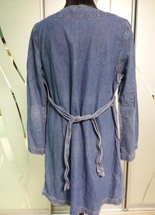 Джинсовое платье/туника с вышивкой большого 20 размера3 фото