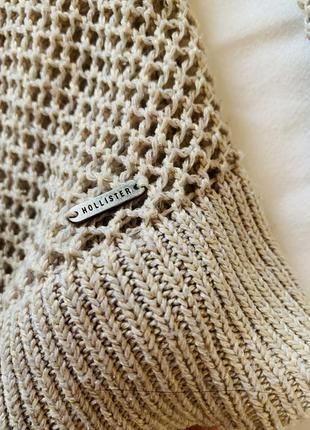 Классный свитер-сетка hollister2 фото