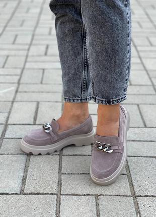 Замшевые женские туфли7 фото