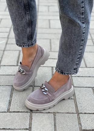 Замшевые женские туфли1 фото