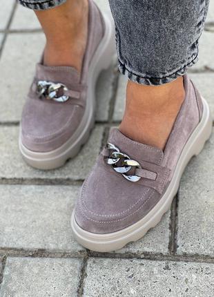 Замшевые женские туфли5 фото