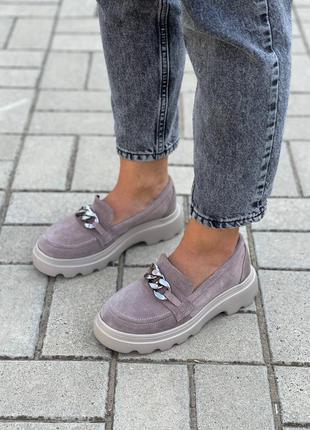 Замшевые женские туфли2 фото