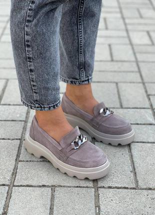 Замшевые женские туфли3 фото