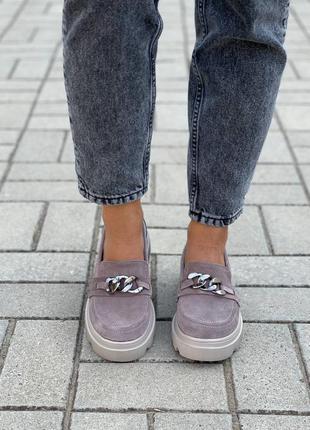 Замшевые женские туфли4 фото