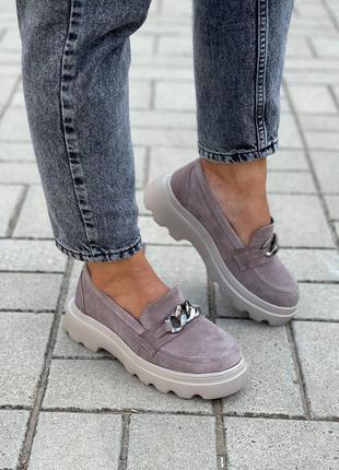 Замшевые женские туфли6 фото