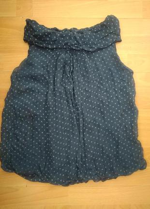 Романтичная шелковая блузка из шелка блуза в горошек1 фото