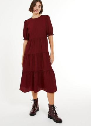 Чудесное ярусное платье миди