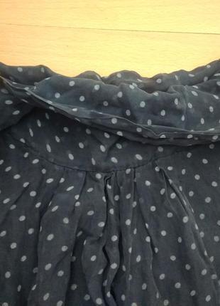 Романтичная шелковая блузка из шелка блуза в горошек2 фото