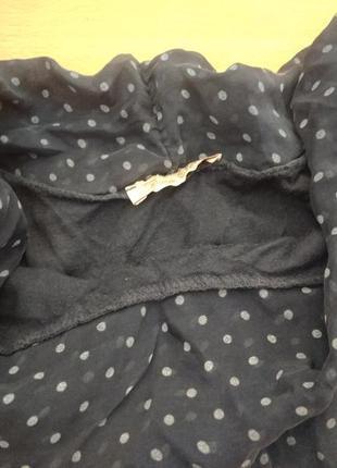 Романтичная шелковая блузка из шелка блуза в горошек3 фото