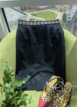 Шикарная юбка /ysl , оригинал/скидка 40 размер2 фото