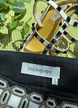 Шикарная юбка /ysl , оригинал/скидка 40 размер3 фото