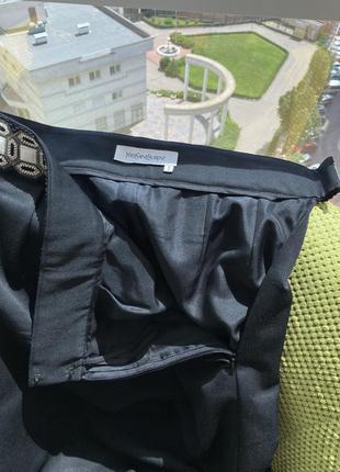 Шикарная юбка /ysl , оригинал/скидка 40 размер6 фото