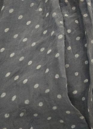 Романтичная шелковая блузка из шелка блуза в горошек6 фото