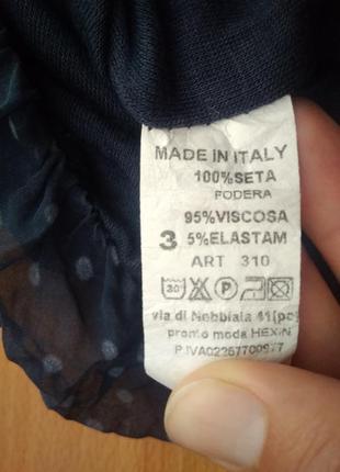 Романтичная шелковая блузка из шелка блуза в горошек7 фото