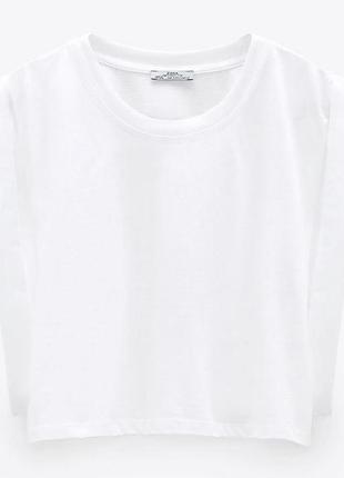 Zara укороченная футболка