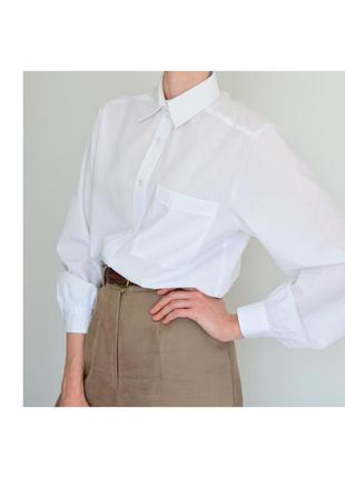 Белая рубашка классическая. белоснежная рубашка женская. жіноча біла сорочка