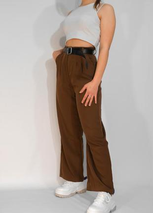 Коричневые штаны (брюки) женские