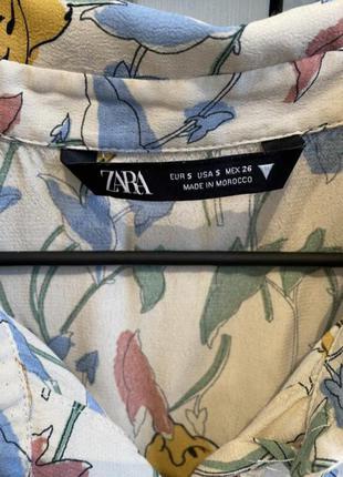 Платье рубашка на пуговицах с поясом платье zara6 фото
