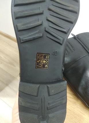 Laura conte чорні класичні шкіряні деміжсезонні високі чоботи черевики ботфорти на низькому ходу розмір 39.5 /40 /40.57 фото