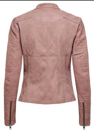 Байкерская куртка-косуха из исскуственной кожи only ava5 фото