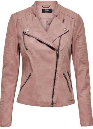 Байкерская куртка-косуха из исскуственной кожи only ava4 фото