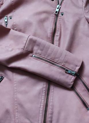 Байкерская куртка-косуха из исскуственной кожи only ava7 фото